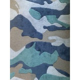 Image of Camo 8' x 10' Rug - Blue For Sale