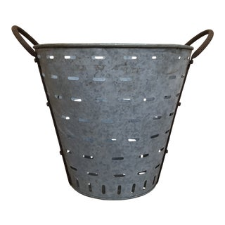 Vintage Olive Bucket For Sale