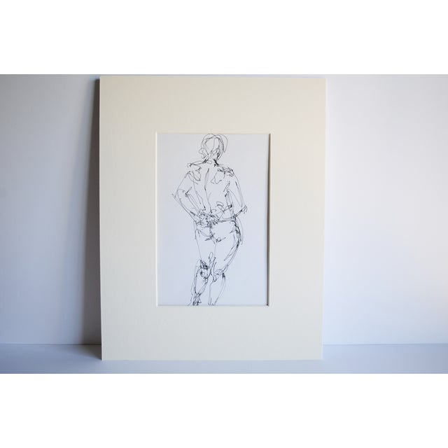 Mid Century Nude Drawing I by Paulina Jones Everitt - Image 2 of 4