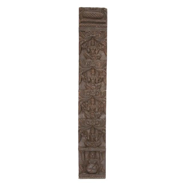 Lakshmi Adorned Carved Wall Panel - Image 1 of 2
