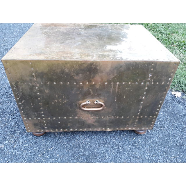 Brass 1980s Mid-Century Modern Sarreid Brass Chest of Drawers For Sale - Image 7 of 13