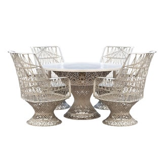 Russell Woodard Spun Fiberglass Patio Dining Set