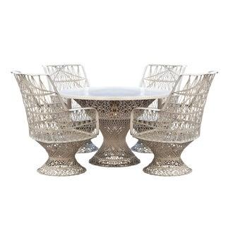 Russell Woodard Spun Fiberglass Patio Dining Set