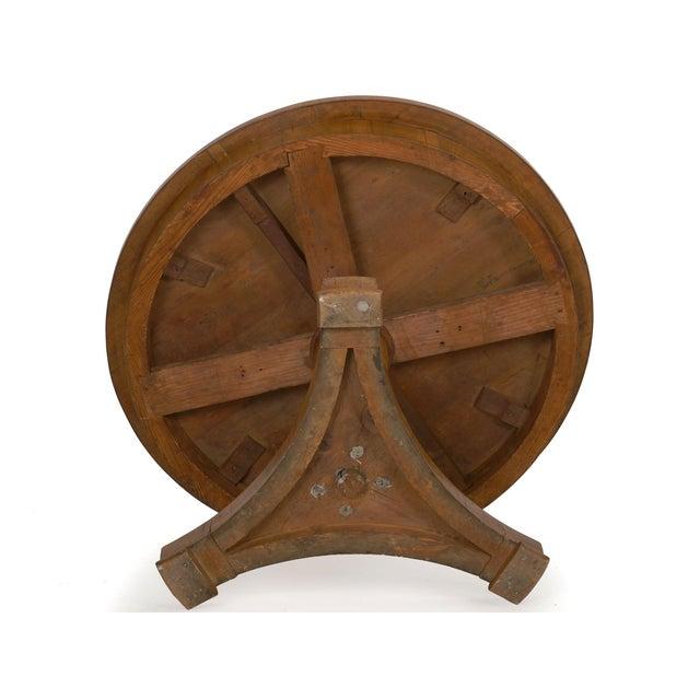 19th Century Austrian Biedermeier Walnut Antique Round Center Table For Sale - Image 12 of 13