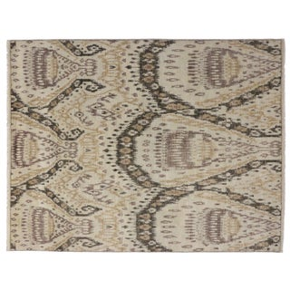 Contemporary Abstract Ikat Area Rug - 7′9″ × 10' For Sale