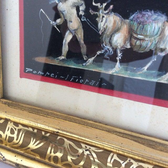 Paint Antique Gouache Paintings of Cherubs - A Pair For Sale - Image 7 of 7
