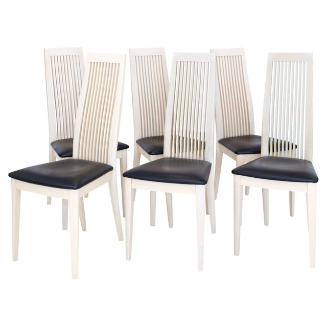Italian Potocco Tall Dining Chairs, Set of 6 For Sale - Image 9 of 10