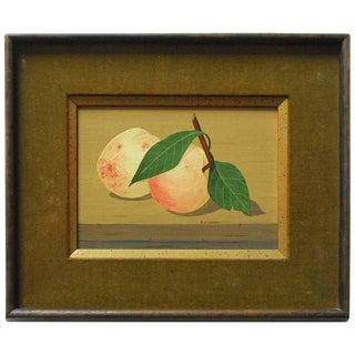"""Mid-Century Still Life """"Two Peaches"""" by K.Howard For Sale"""