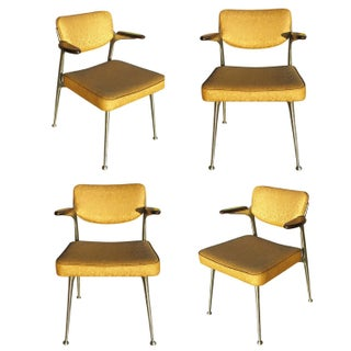 Aluminum Gazelle Armchairs by Shelby Williams -S/4 For Sale