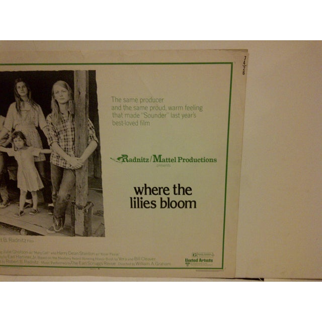 """""""Where the Lilies Bloom"""" 1974 Vintage Movie Poster For Sale - Image 4 of 5"""