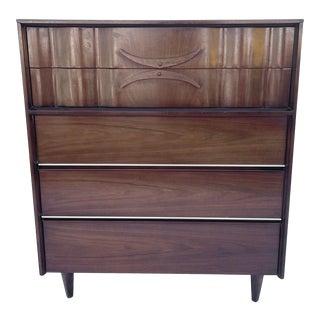 Mid-Century Modern Highboy Dresser For Sale
