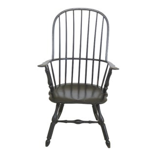 Windsor Style Loop Back Painted Armchair For Sale