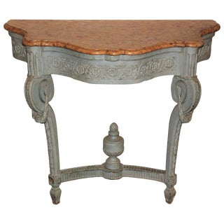 19th C. French Painted Console For Sale