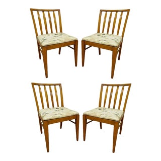 4 Vintage Mid Century Modern Maple Slat Back Dining Chairs Paul McCobb Style For Sale