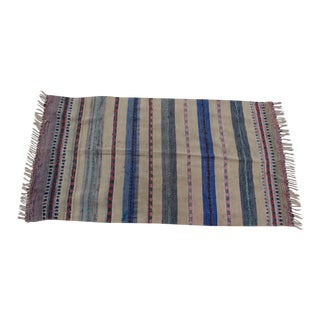 Swedish Hand Woven Rag Rug - 3′6″ × 6′7″ For Sale