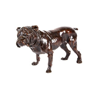 Early 20th Century English Bronze Bulldog
