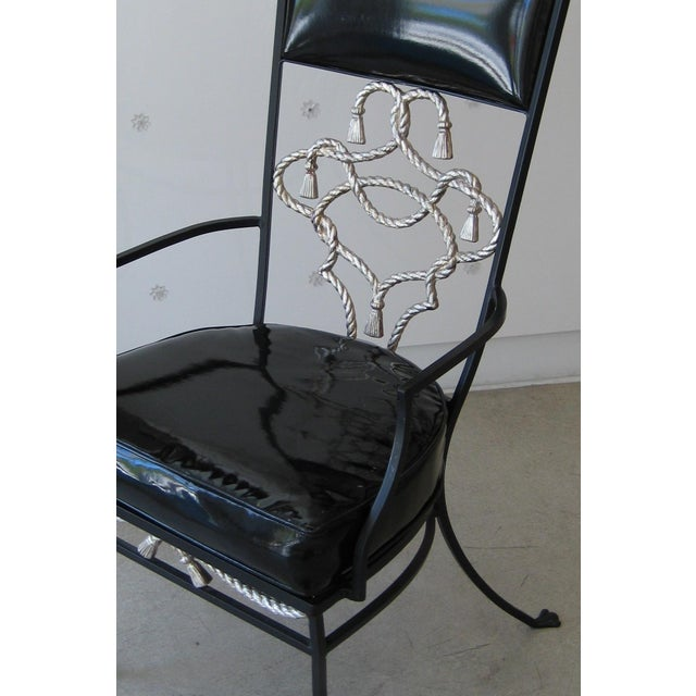 Black Iron High-Backed Chair - Image 3 of 3