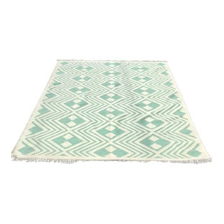 Vintage Hand Knotted Kilim Rug - 6′7″ × 9′10″ For Sale