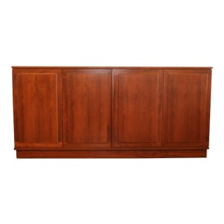Walnut Platform Cabinet for Founders Furniture For Sale