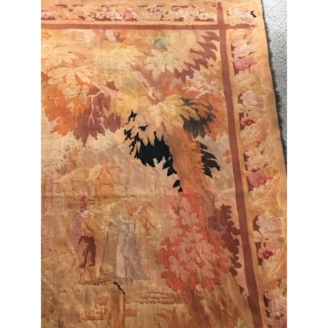 Antique Pastoral Scene Wool Tapestry For Sale - Image 4 of 10