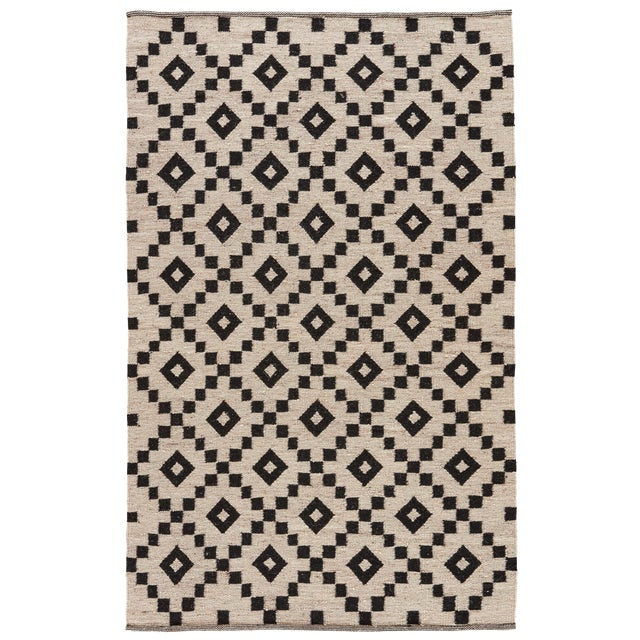 Jaipur Living Croix Handmade Geometric Black/ White Area Rug - 5′ × 8′ For Sale