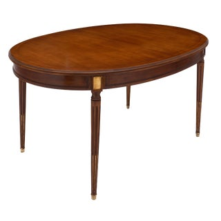 Louis XVI Style Antique Mahogany Dining Table For Sale