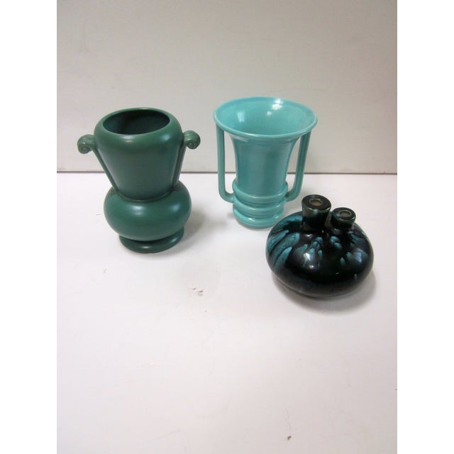Mid-Century Modernist Pottery Vases - Set of 3 - Image 2 of 10