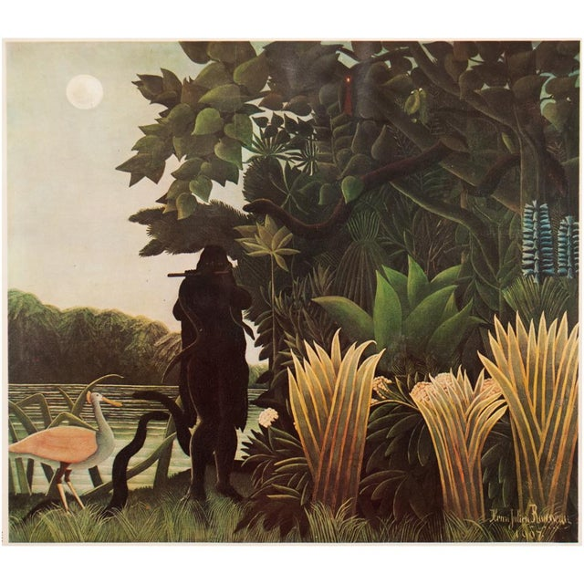 """Printmaking Materials 1966 Henri Rousseau, """"The Waterfall"""" Photogravure From Milan For Sale - Image 7 of 11"""
