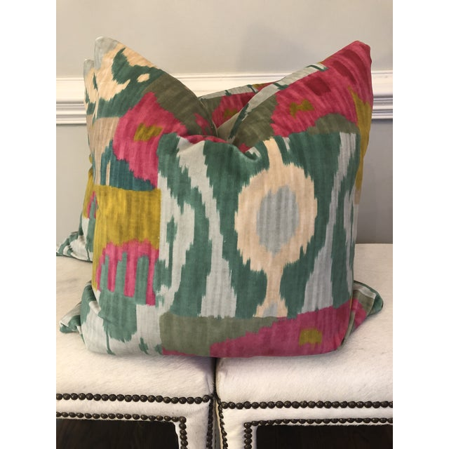 "Pierre Frey ""Bella Coola"" 22"" Pillows-A Pair For Sale In Greensboro - Image 6 of 6"