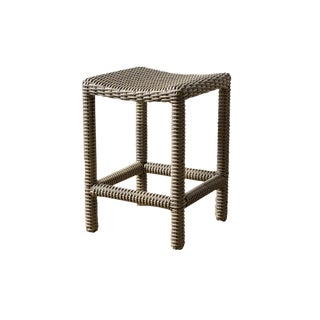 Modern Parsons Driftwood Counter Stool For Sale