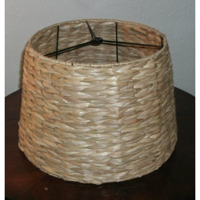 Early 21st Century Woven Rattan Lamp Shade For Sale - Image 5 of 7