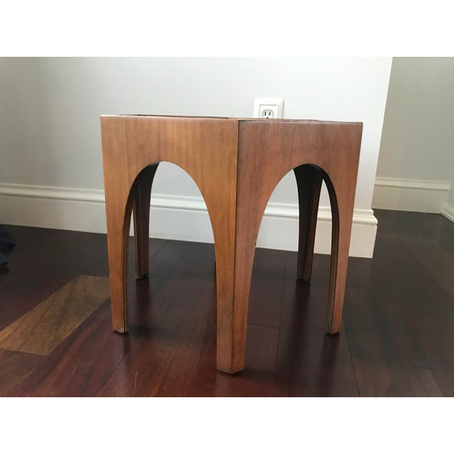 1960s Vintage Mid Century Modern Danish Teak Hexagonal Side Table For Sale - Image 5 of 8