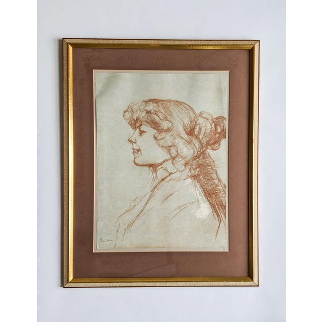 French Women Portrait Prints of 19th Century Artworks by Painter and Artist, Henri De Toulouse-Lautrec. Lot of 4 For Sale - Image 4 of 13