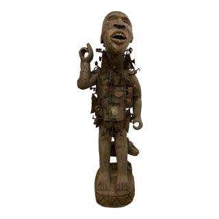 Vintage Nkisi Fetish Antigen African Statue/Sculpture For Sale