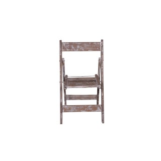 Morgan Rustic Style Wooden Folding Chair