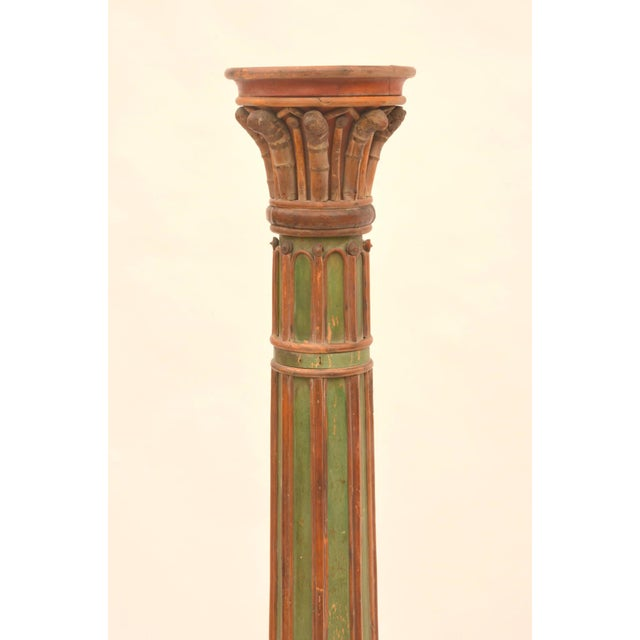 Pair of impressive French 19th century Napoleon III Torchere Columns. Can be used as floor lamps or agains the wall as...