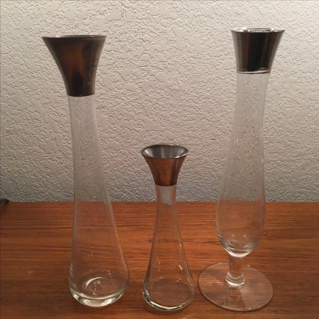 Dorothy Thorpe Silver Band Vases - Set of 3 - Image 3 of 11