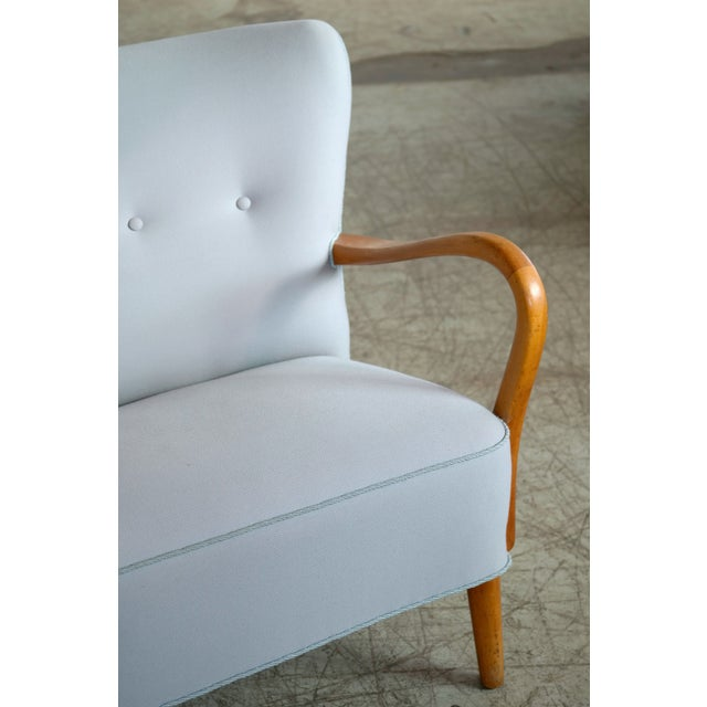 1940s 1940s Danish Sofa With Open Armrests by Alfred Christensen for Slagelse For Sale - Image 5 of 9