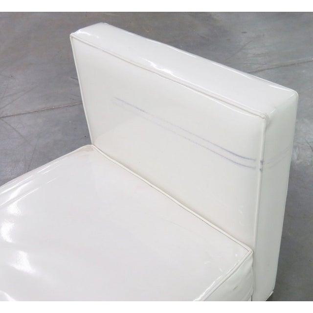 J.A. Casillas White Vinyl Sofa - Right - Image 5 of 6