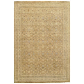 """Contemporary Khotan Hand Knotted Rug - 9'11"""" X 14'5"""""""