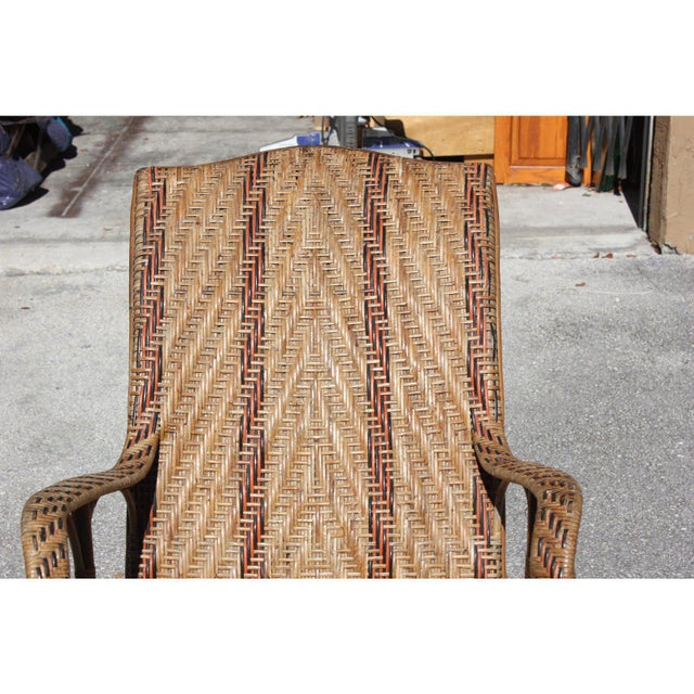 C. 1940s French Art Deco Wood Rocking Chair For Sale - Image 10 of 13