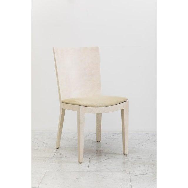 Karl Springer Karl Springer, Matte Parchment Jmf Chairs, Usa, C.1975 For Sale - Image 4 of 7