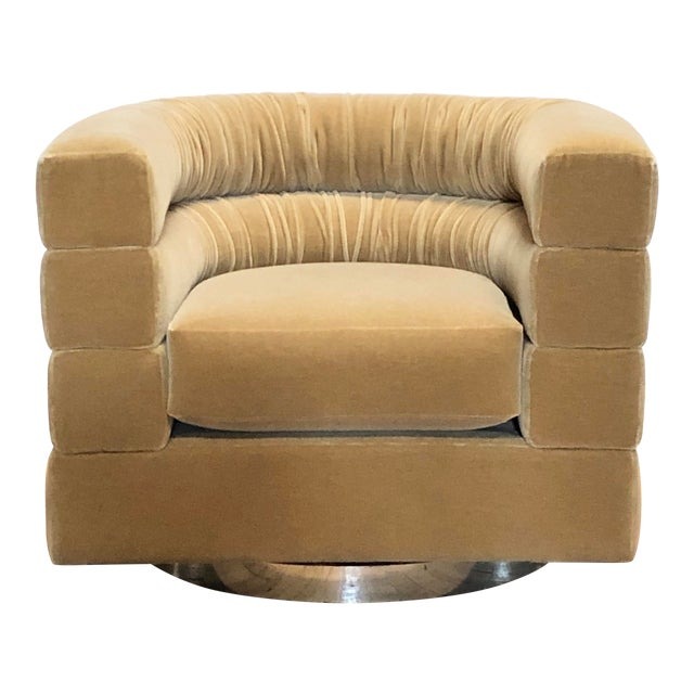 Mid Century Lounge Swivel Chair by Milo Baughman For Sale