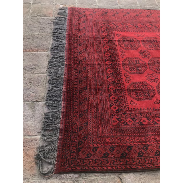 Textile Vintage Hand-Knotted Wool Rug- 6′7″ × 10′7″ For Sale - Image 7 of 13