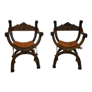Italian Renaissance Chairs S/2 For Sale