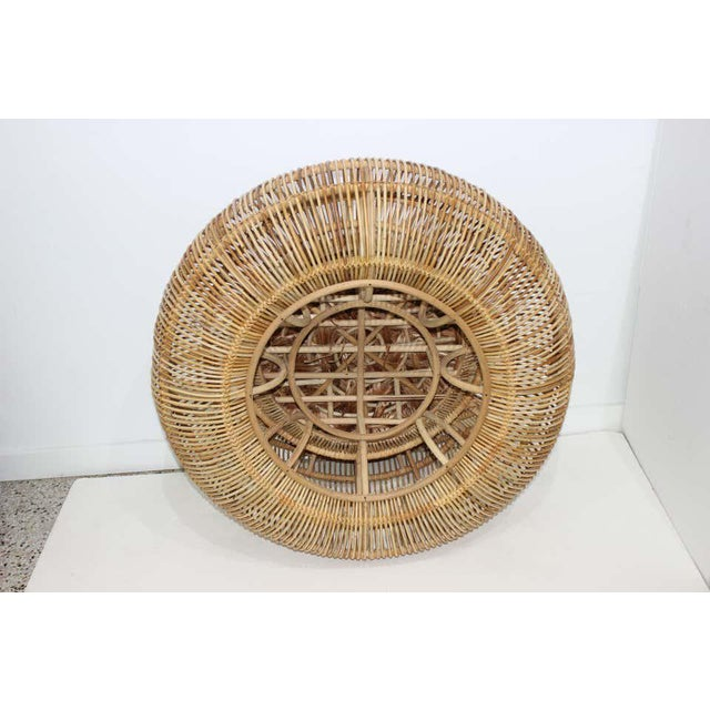 Tan Vintage Franco Albini Attributed Rattan Lounge Chair For Sale - Image 8 of 13