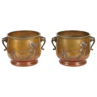 Pair of 19th Century Japanese Hibachi For Sale
