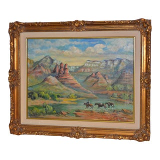 "Arizona Western Landscape ""Near Flagstaff"" Oil Painting by Francoise For Sale"