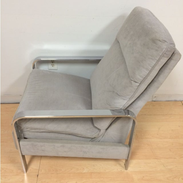 Milo Baughman Chrome Recliner - Image 4 of 8