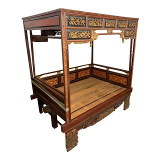 Chinese Wooden Wedding Bed For Sale